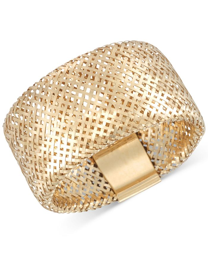 Italian Gold - Gold Openwork Mesh Stretch Ring in 14k Gold