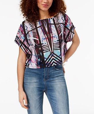 Juniors' Printed Top, Created For Macy's by Material Girl