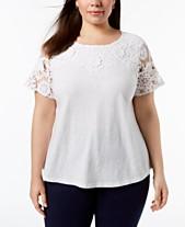 f6deda23e676f8 White Lace Top  Shop White Lace Top - Macy s