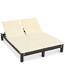 Lucinda Outdoor Double Lounge Chair, Quick Ship