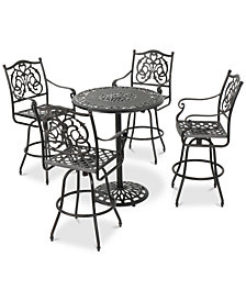 Tustin 5-Pc. Outdoor Bar Set, Quick Ship