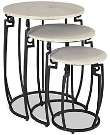 Ponga 3-Pc. Nesting Table Set, Quick Ship