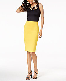 Thalia Sodi Strappy Camisole & Pencil Skirt, Created for Macy's