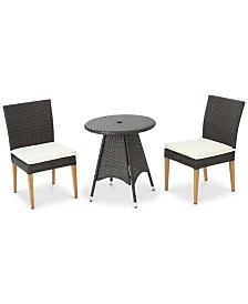 Madrid 3-Pc. Outdoor Dining Set, Quick Ship