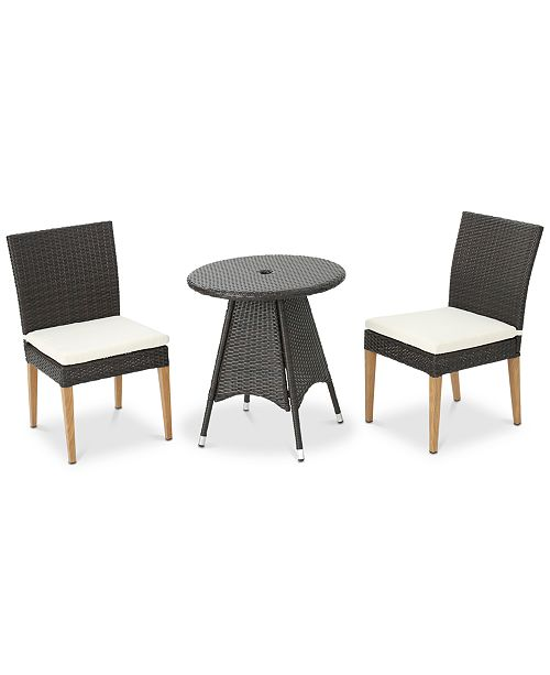 Furniture Madrid 3-Pc. Outdoor Dining Set, Quick Ship