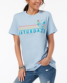Hybrid Juniors' Cotton Snoopy-Graphic T-Shirt'