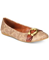 380993dcded9 COACH Stanton Signature Buckle Ballet Flats