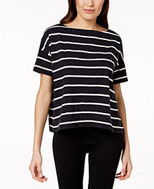 Eileen Fisher Organic Cotton Striped Top, Regular & Petite