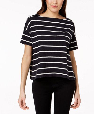 Eileen Fisher Organic Cotton Striped Top, Regular & Petite
