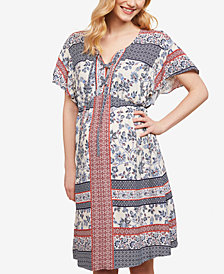 Jessica Simpson Maternity Printed A-Line Dress