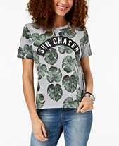 adab3c811e Mighty Fine Juniors  Sun Chaser Graphic-Print T-Shirt