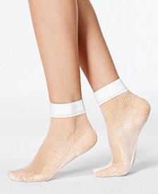 HUE® Women's Sporty Fishnet Ankle Socks