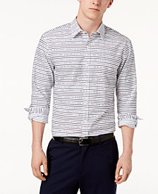 Michael Kors Men's Slim-Fit Broken Stripe Shirt
