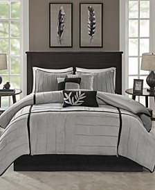 Dune 7-Pc. Faux-Suede California King Comforter Set