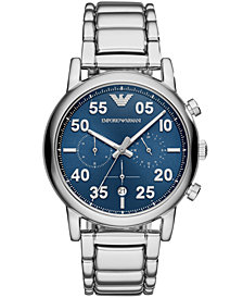Emporio Armani Men's Chronograph Stainless Steel Bracelet Watch 43mm