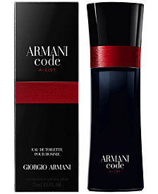 Giorgio Armani Men's Armani Code A-List Eau de Toilette Spray, 2.5-oz., Exclusively at Macy's