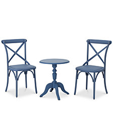 Natalie 3-Pc. Outdoor Chat Set, Quick Ship