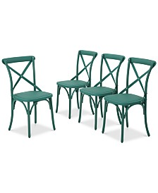Veranda Outdoor Dining Chairs (Set of 4), Quick Ship