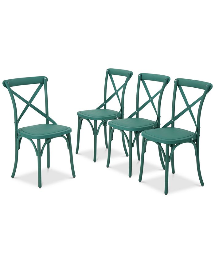 Noble House - Veranda Outdoor Dining Chairs (Set of 4), Quick Ship
