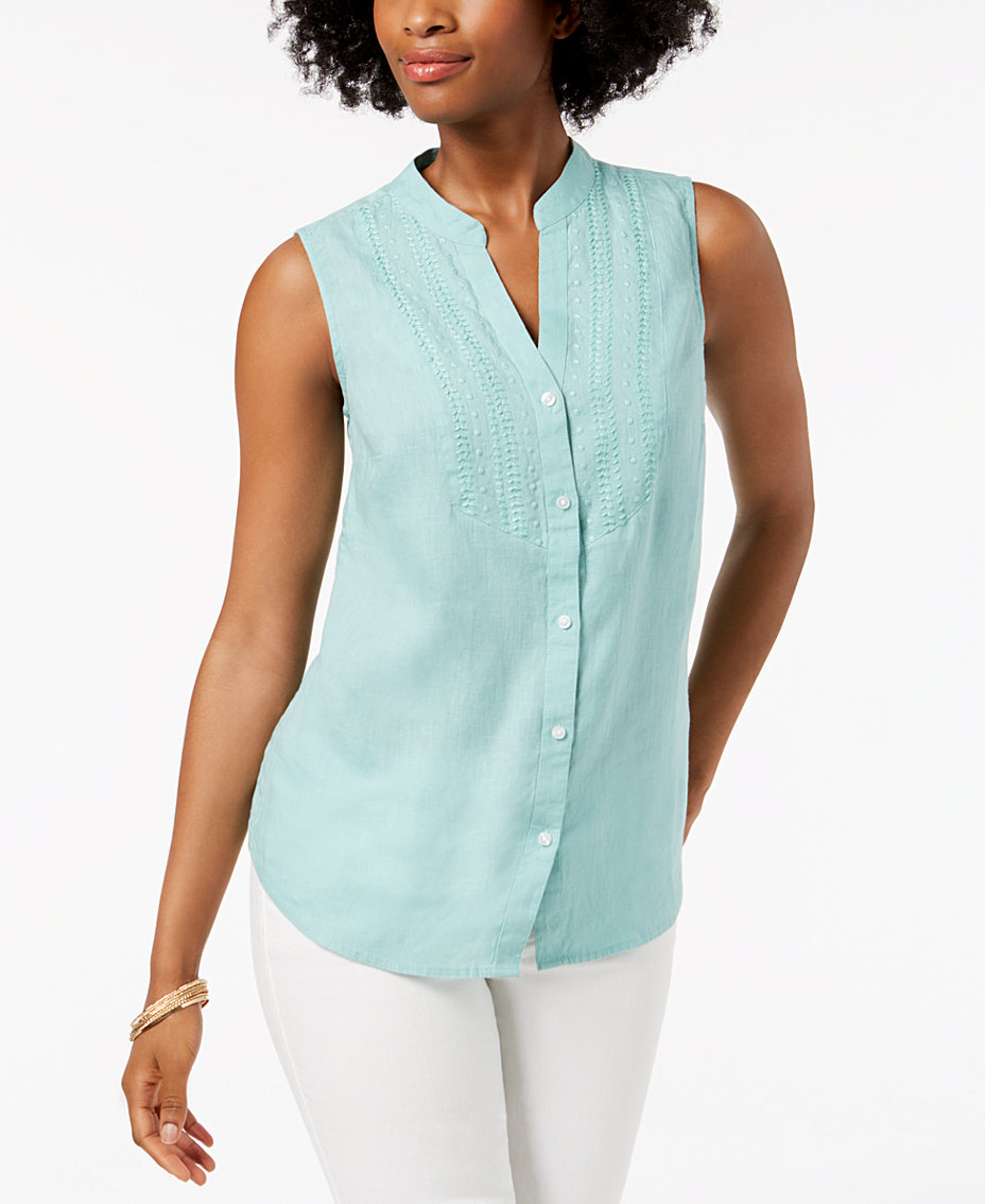 White Linen Shirt: Shop White Linen Shirt - Macy\'s