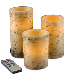 4-Pc. Flickering Flameless LED Candles & Remote Control Set
