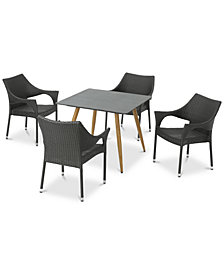 Santa Cruz 5-Pc. Outdoor Dining Set, Quick Ship