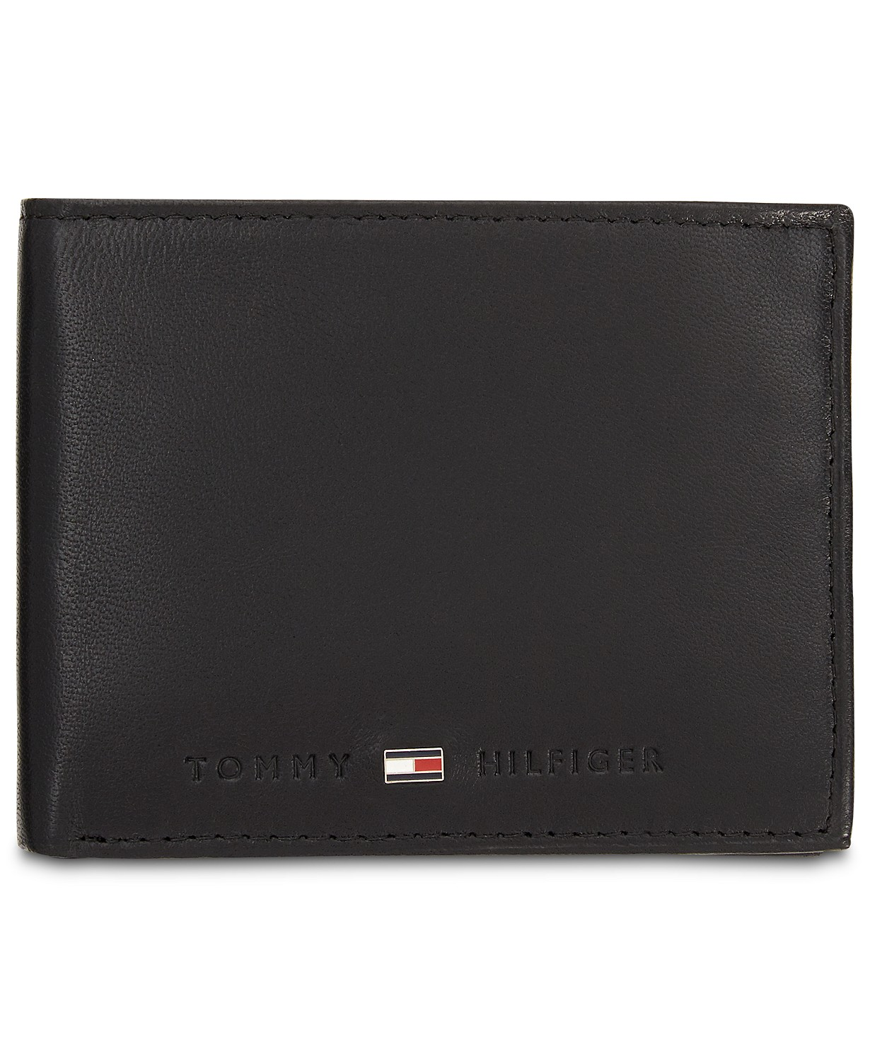 Tommy Hilfiger Men's Rfid Blocking Brax Leather Traveler Wallet