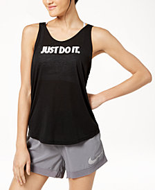 Nike Breathe Dri-FIT Open-Back Tank Top