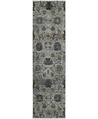 "Journey  Amizade Blue 2'3"" x 8' Runner Rug"