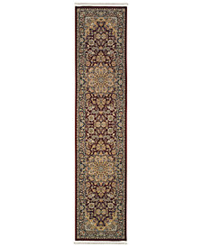 "Oriental Weavers Masterpiece Medallion Red 2'3"" x 10' Runner"
