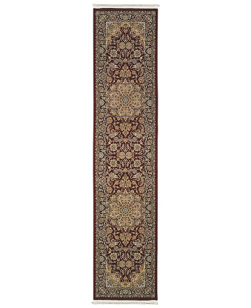 "JHB Design  Paragon Medallion Red 2'3"" x 10' Runner"