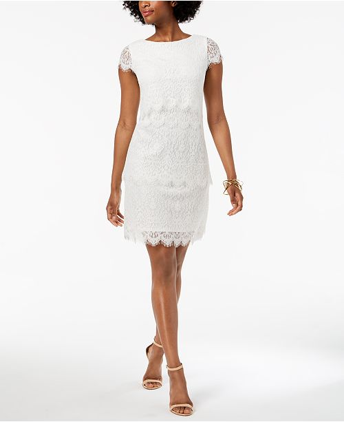 006a5107 Donna Ricco Tiered Lace Sheath Dress & Reviews - Dresses ...