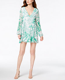 BCBGeneration Palm-Print Shift Dress