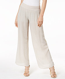 BCX Juniors' Wide-Leg Gauze Soft Pants