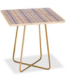Deny Designs Holli Zollinger Boho Stripe Square Side Table