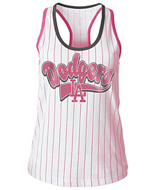 5th & Ocean Los Angeles Dodgers Pink Pinstripe Tank Top, Girls (4-16)
