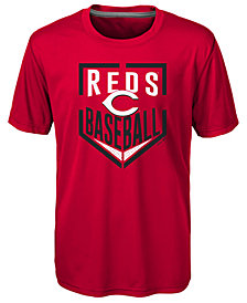 Outerstuff Cincinnati Reds Run Scored Poly T-Shirt, Big Boys (8-20)