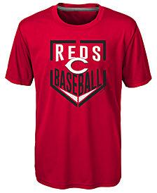 Outerstuff Cincinnati Reds Run Scored Poly T-Shirt, Big Boys (8-20)