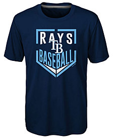 Outerstuff Tampa Bay Rays Run Scored Poly T-Shirt, Big Boys (8-20)