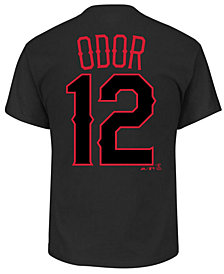 Majestic Men's Rougned Odor Texas Rangers Pitch Black Player T-Shirt