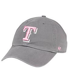 Texas Rangers Dark Gray Pink CLEAN UP Cap