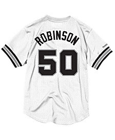 Mitchell & Ness Men's David Robinson San Antonio Spurs Name and Number Mesh Crewneck Jersey