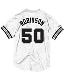 Mitchell & Ness Men's David Robinson San Antonio Spurs Name and Number Mesh Crewneck Jersey