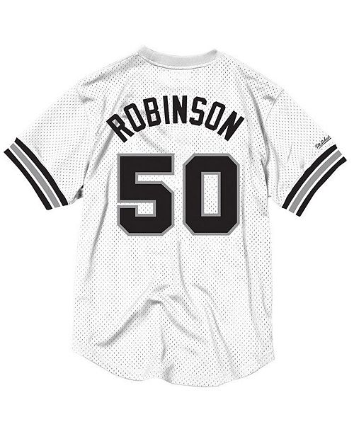 59bb917f62e61 ... Mitchell   Ness Men s David Robinson San Antonio Spurs Name and Number  Mesh Crewneck ...