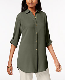 JM Collection Long Crepe Shirt, Created for Macy's