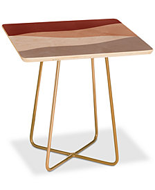 Deny Designs Kelly Haines Desert Waves Square Side Table