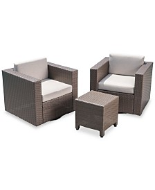 Jameson 3-Pc. Outdoor Chat Set, Quick Ship