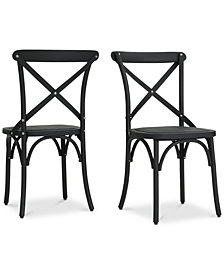 Miranda Farmhouse Dining Chairs (Set of 2), Quick Ship