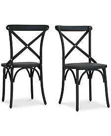 Miranda Farmhouse Dining Chairs (Set of 2), Quick Ship