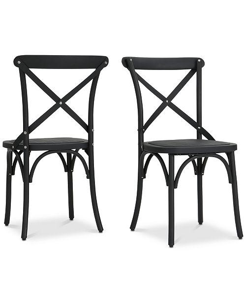 Furniture Miranda Farmhouse Dining Chairs (Set of 2), Quick Ship